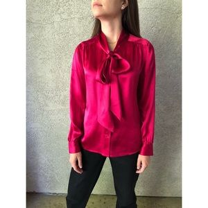 VINTAGE | Pussy Bow pure silk blouse
